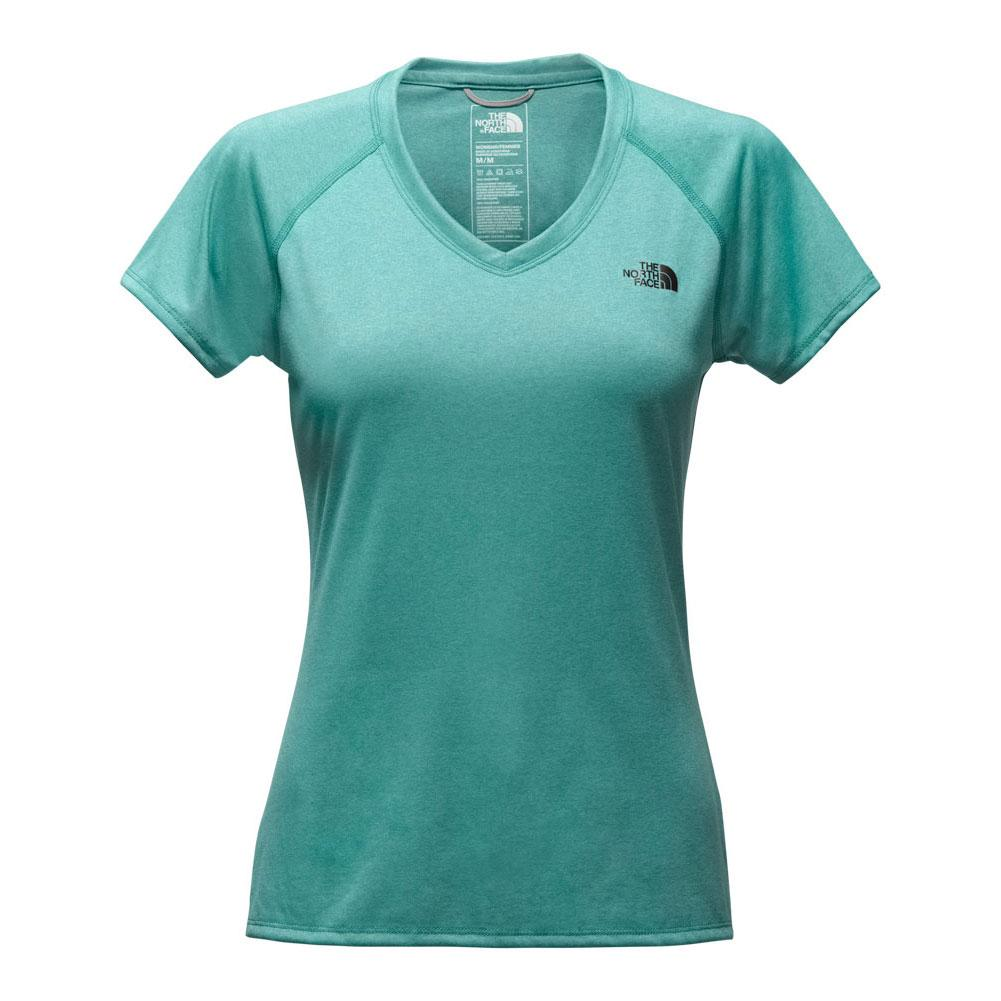 39c07dc7 The North Face Short Sleeve Reaxion Amp V-Neck Tee Women's Bristol Blue  Heather/ ...
