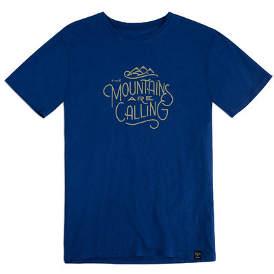 United By Blue Short Sleeve Mountains Calling And I Must Go Shirt Men's