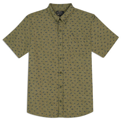 United By Blue Short Sleeve Upstream Print Button Down Shirt Men's
