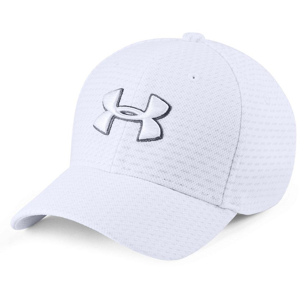 Under Armour Boys  Printed Blitzing 3.0 Cap White Graphite White b5fd703b7817
