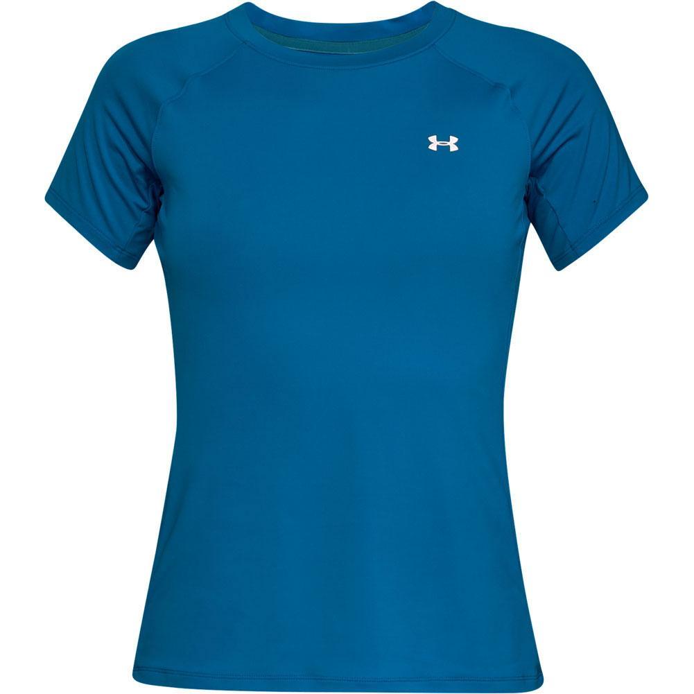 Under Armour Sunblock Short Sleeve Shirt Women s CRUISE BLUE CANOE  BLUE WHITE ... 4103f201a