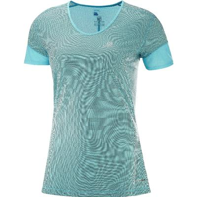 Salomon Trail Runner Short Sleeve Tee Women's - Blue Curacao