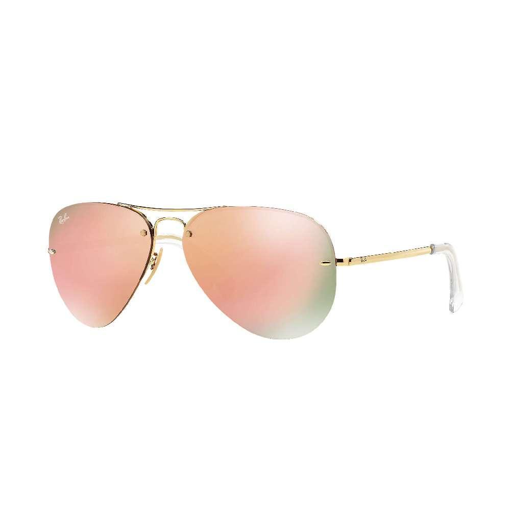 fe603ed1d5d Rayban Aviator Sunglasses GOLD COPPER MIRROR
