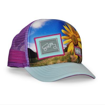 bigtruck Original Sublimated Hat Toddler Flower Power Purple