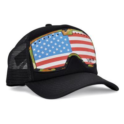 bigtruck Original G.Line Goggle Hat Black American Flag
