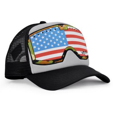bigtruck Original G.Line Goggle Hat Grey Black American Flag