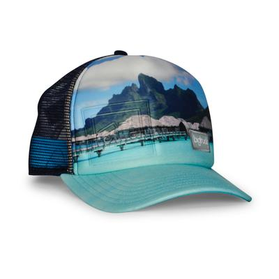 bigtruck Original Sublimated Hat Bali Blue Embossed