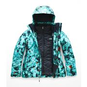 The North Face Garner Triclimate Jacket Women's TRANSANTARCTIC BLUE SNOWFLORAL PRINT
