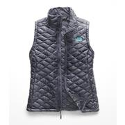 The North Face ThermoBall Vest Women's GRISAILLE GREY/MINT BLUE