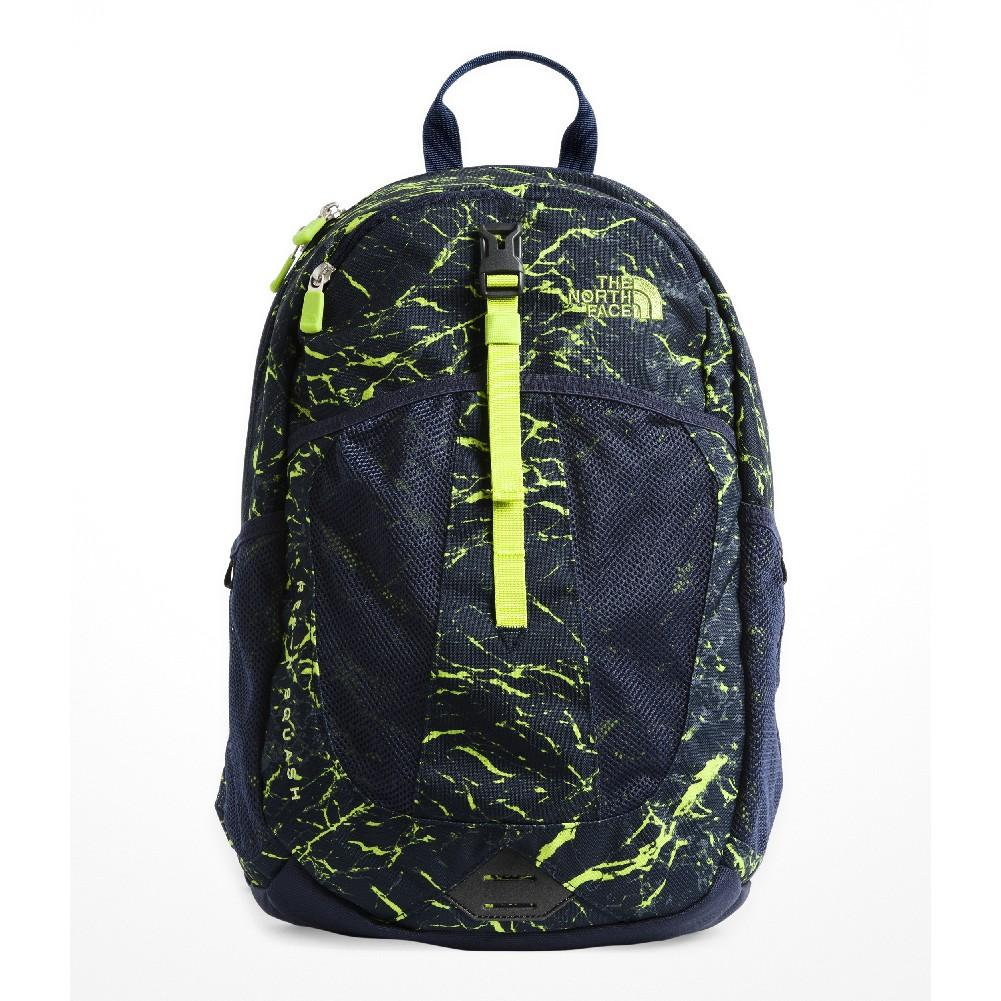 The North Face Youth Recon Squash Backpack COSMIC BLUE GRANITE PRINT LIME  GREEN ... b2e6008516f62