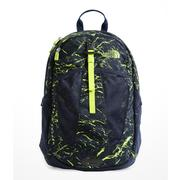 The North Face Youth Recon Squash Backpack COSMIC BLUE GRANITE PRINT/LIME GREEN