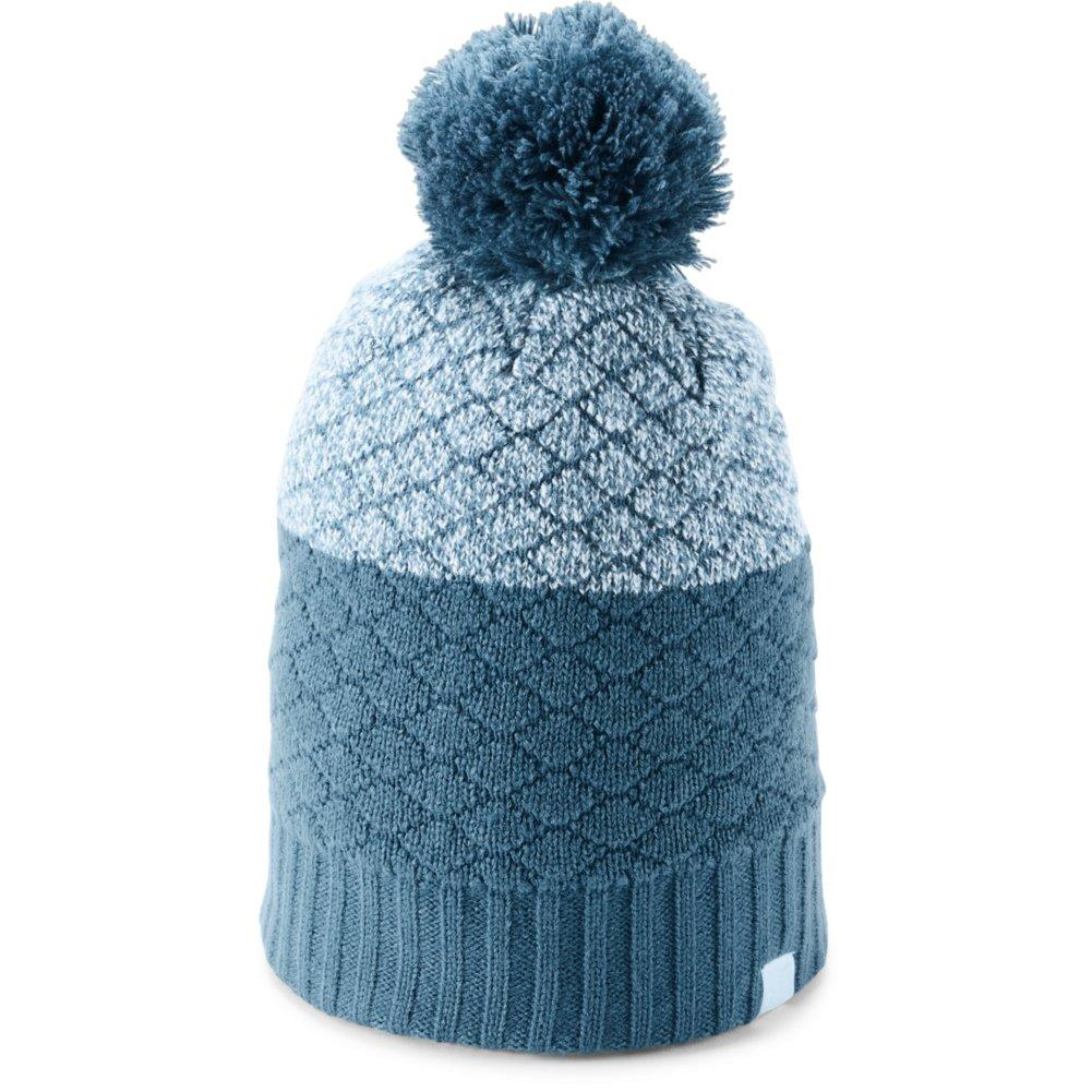 e106a72bf12 Under Armour Quilted Pom Beanie Women s STATIC BLUE HALOGEN BLUE HALOGEN  BLUE