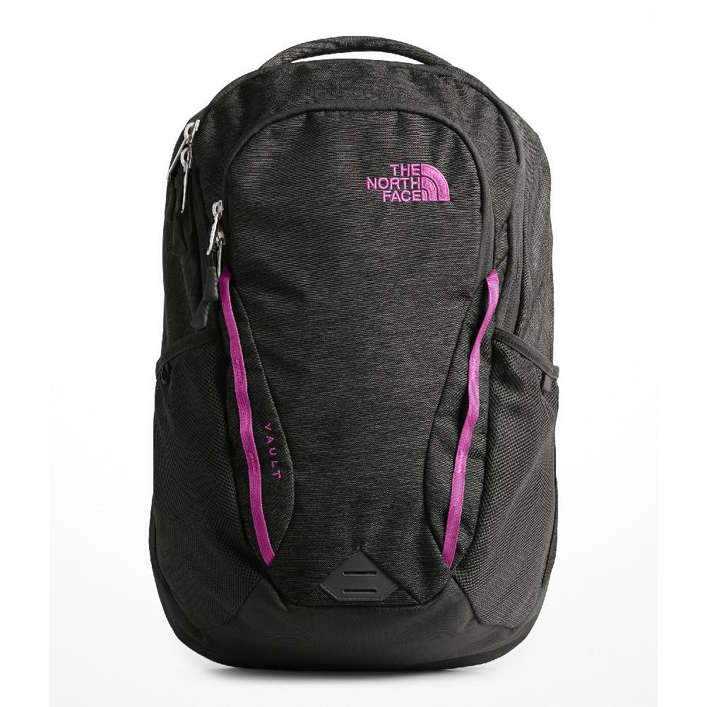 37a54a9440 The North Face Vault Backpack Women's ASPHALT GREY DARK HEATHER/DRAMATIC  PLUM ...