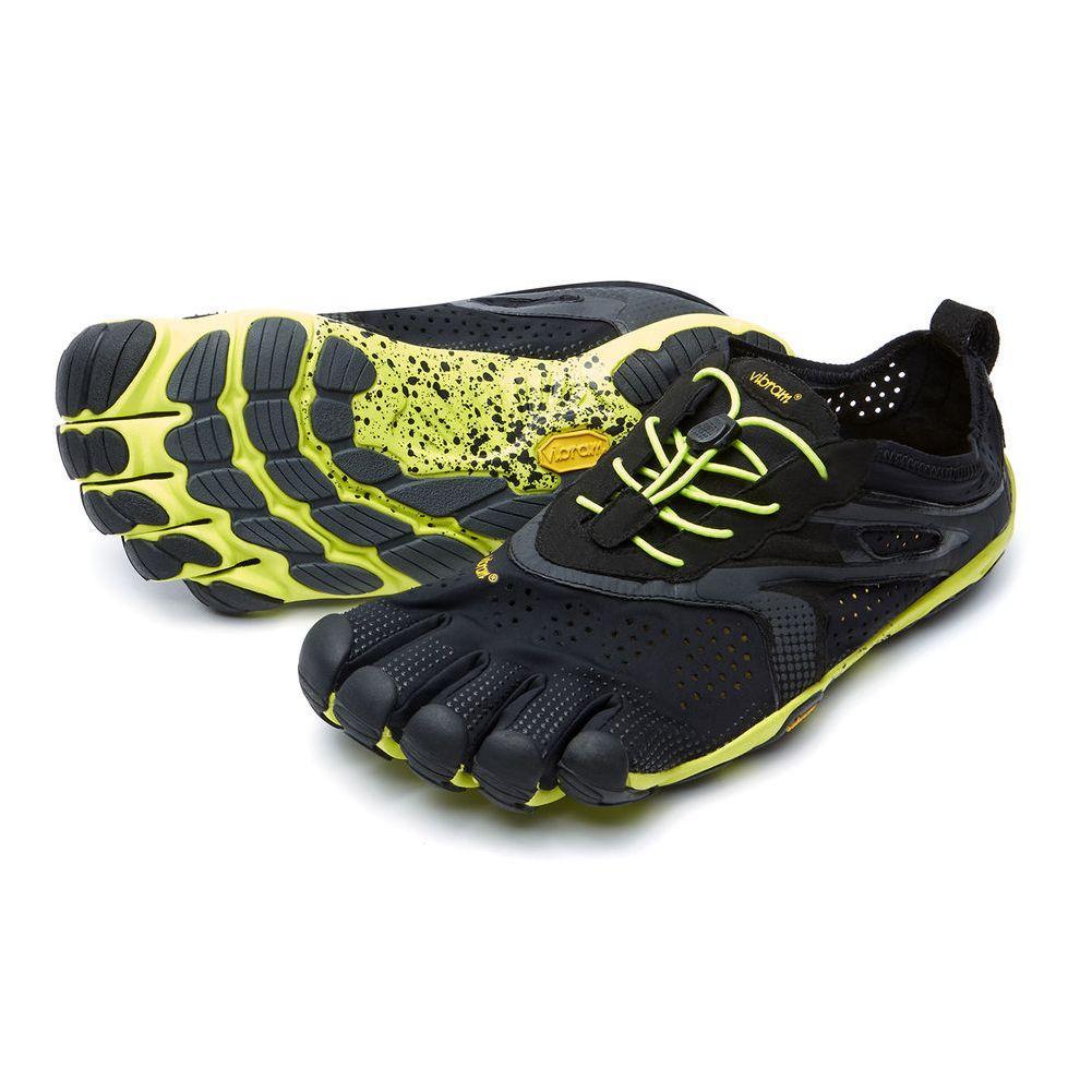 Vibram V- Run Five Fingers Shoes Men's - Black/Yellow