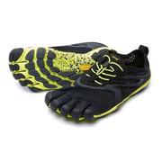 Vibram V-Run Five Fingers Shoes Men's - Black/Yellow BLACK/YELLOW