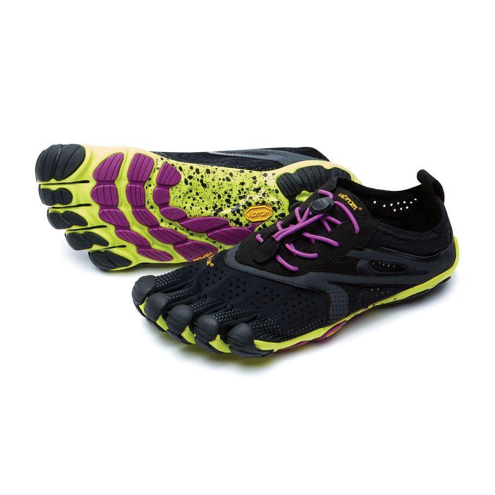 Vibram V- Run Five Fingers Shoes Women's - Black/Yellow/Purple
