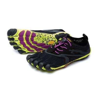 Vibram V-Run Five Fingers Shoes Women's - Black/Yellow/Purple