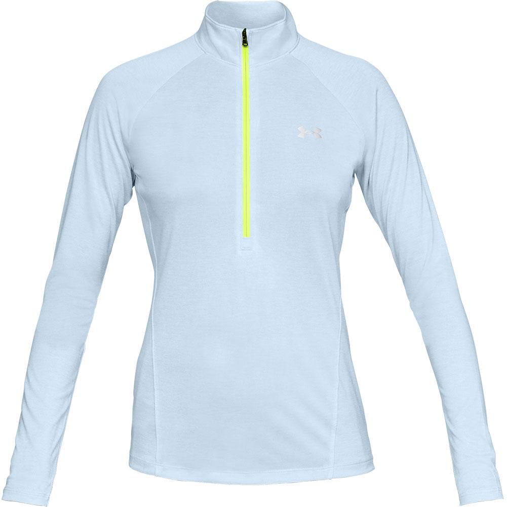 6f846163 Under Armour Tech Twist 1/2 Zip Long Sleeve Shirt Women's CODED BLUE/WHITE  ...