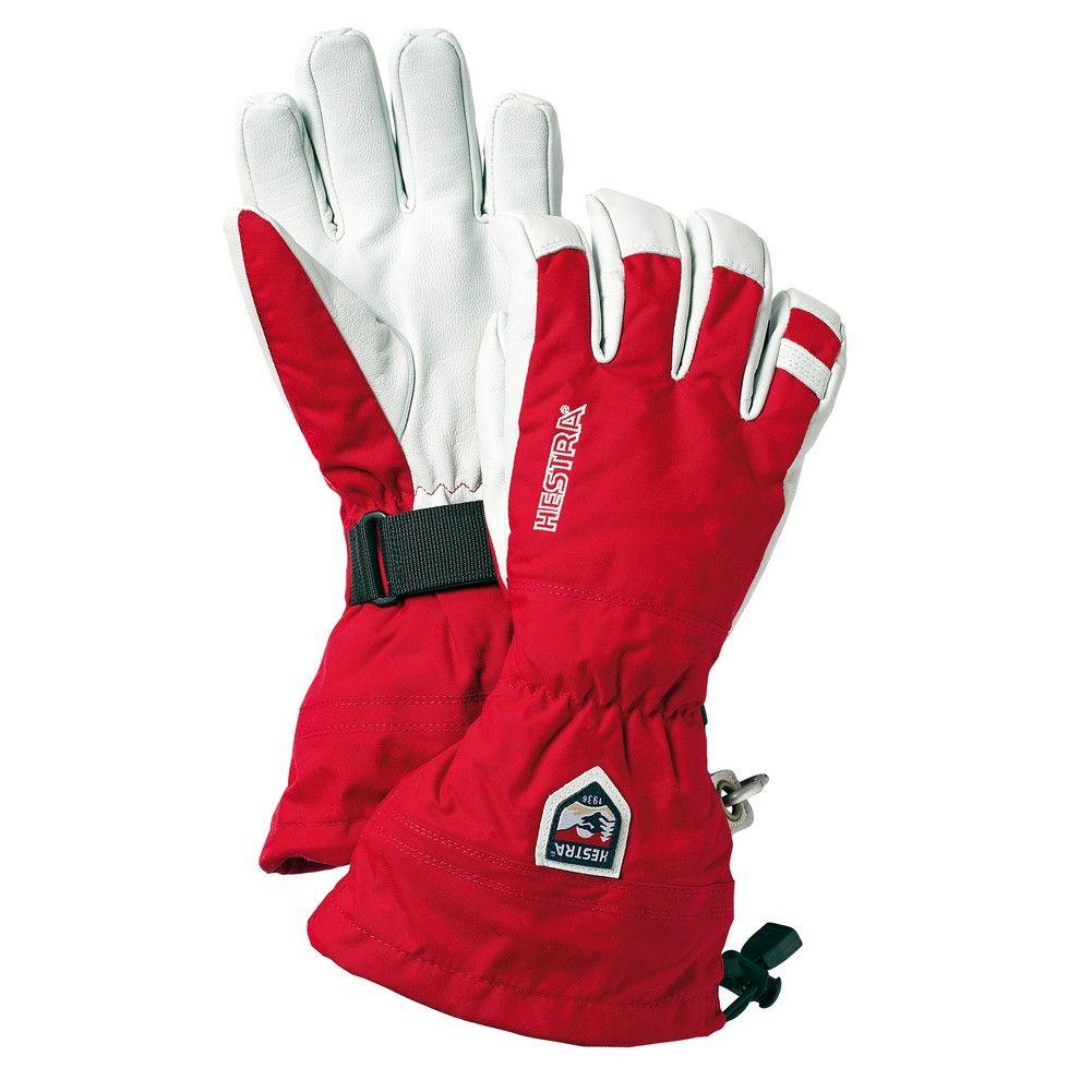 Hestra mens gloves - Hestra Army Leather Heli Ski Glove Men S Red