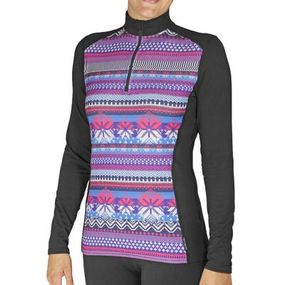 Hot Chillys Micro-Elite Chamois Solid Zip-T Women's