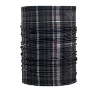 Phunkshun Double Tube Fabric Necktube PLAID BLACK
