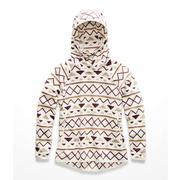 The North Face Glacier Alpine Stripe-Print Pullover Fleece Women's VINTAGE WHITE FESTIVE PRINT