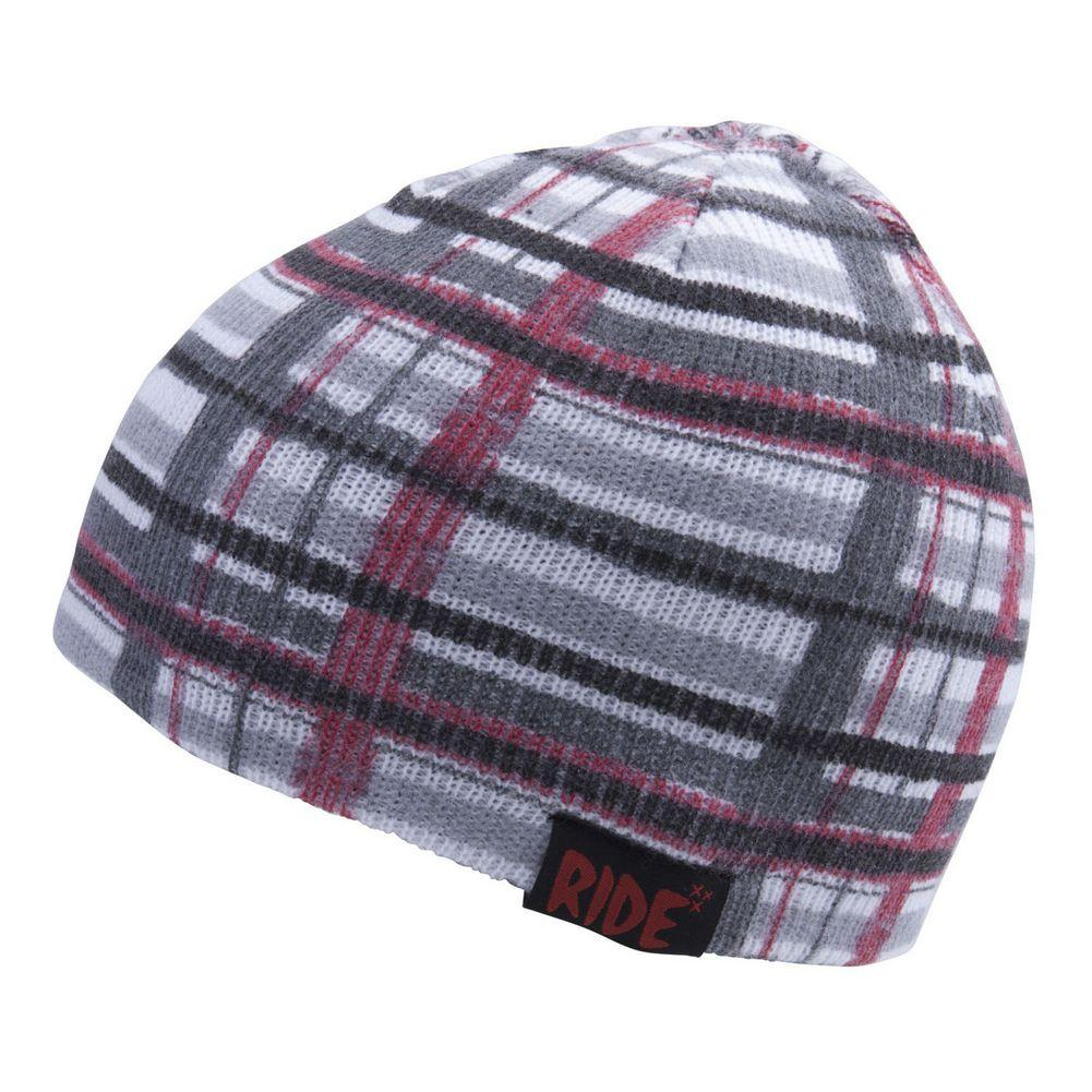 625dbff08d6 Ride Plaid Reversible Beanie Youth BLACK ...