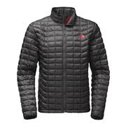 The North Face Thermoball Full Zip Jacket Men's Asphalt Grey/Baked Red