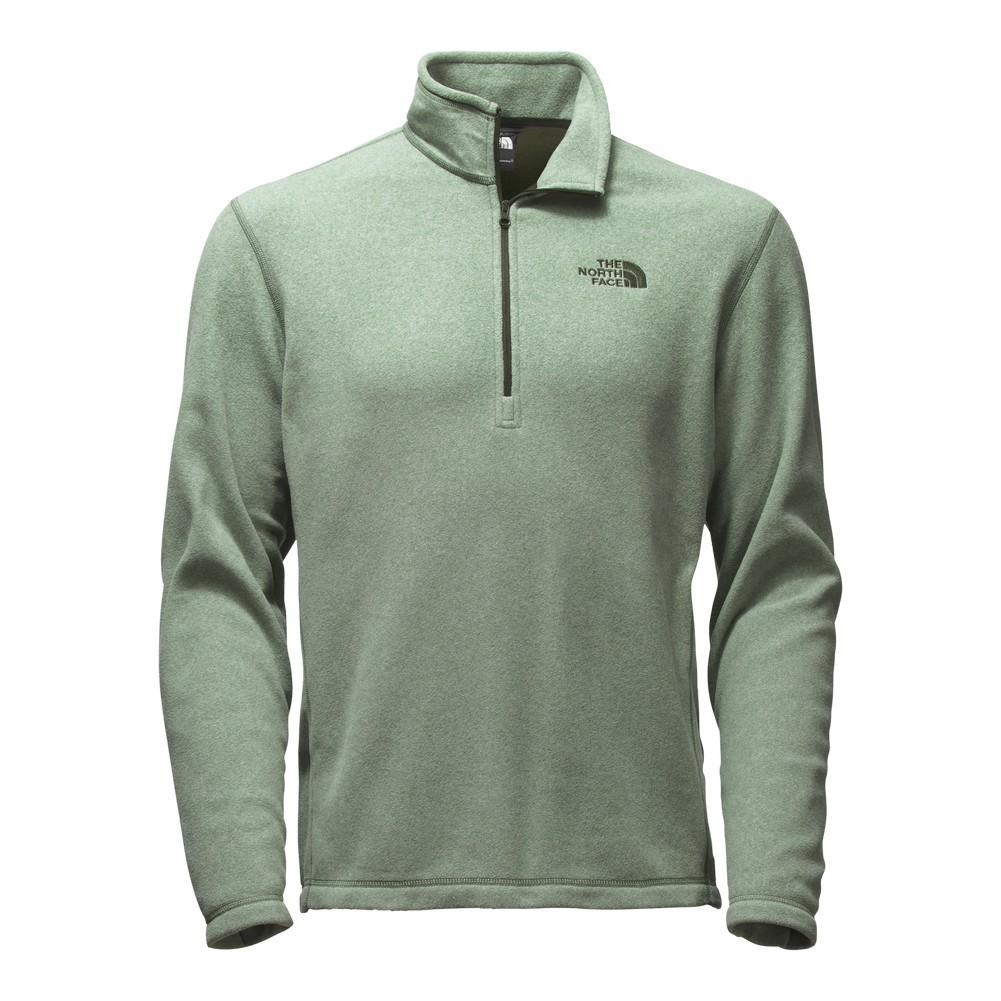 6ecd24fd03 The North Face TKA 100 Glacier 1 4 Zip Fleece Men s Duck Green Heather