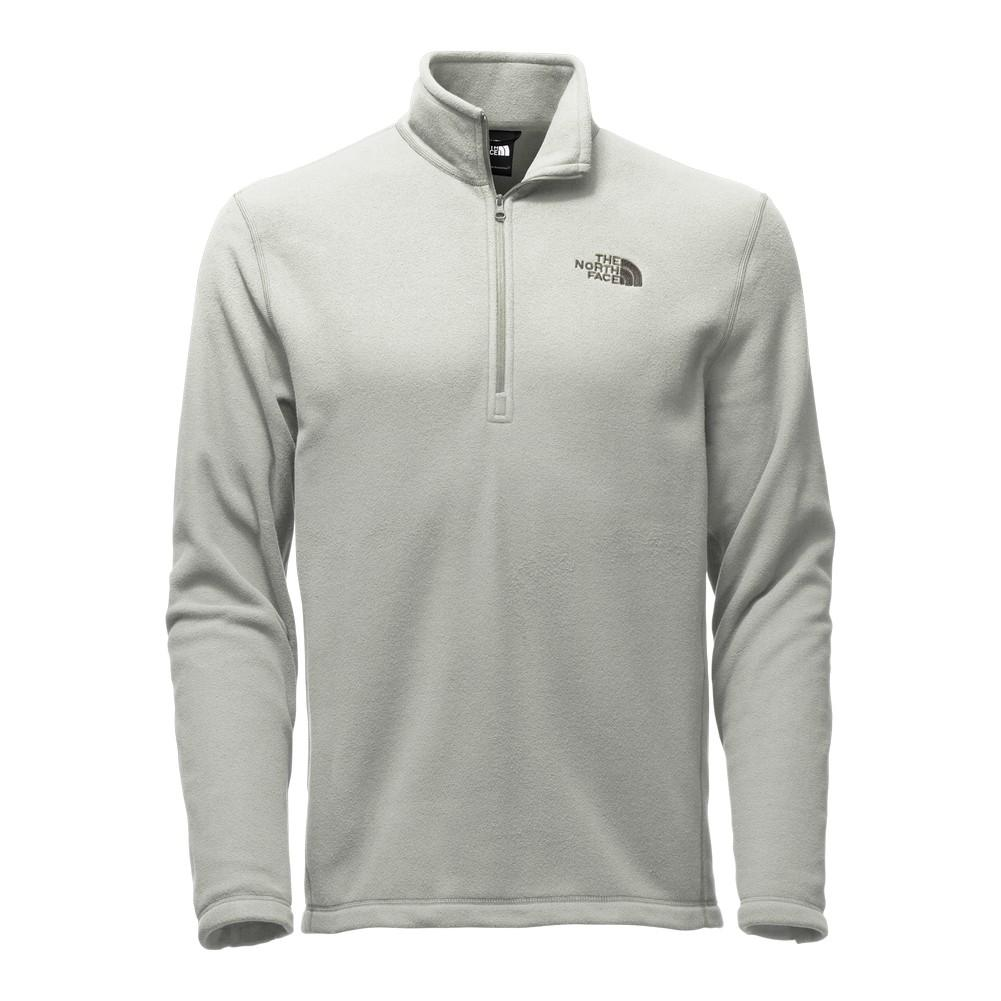 The North Face TKA 100 Glacier 1 4 Zip Fleece Men s Moon Mist Grey 1a7b9d542