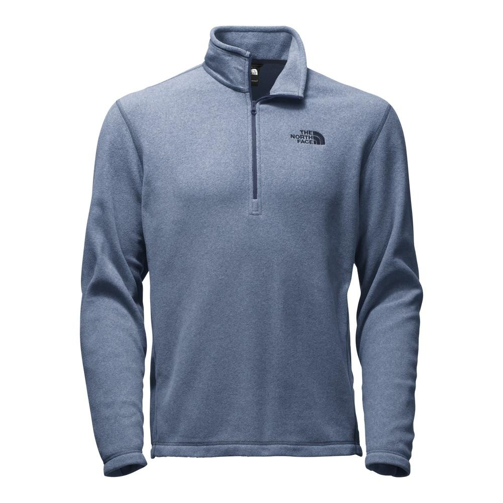 The North Face TKA 100 Glacier 1 4 Zip Fleece Men s Shady Blue Heather efd8605a0