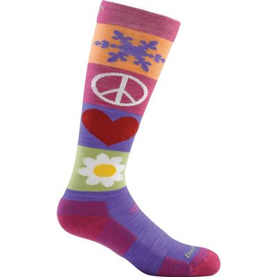 Darn Tough Peace Love Snow Jr Sock Cushion Girls'
