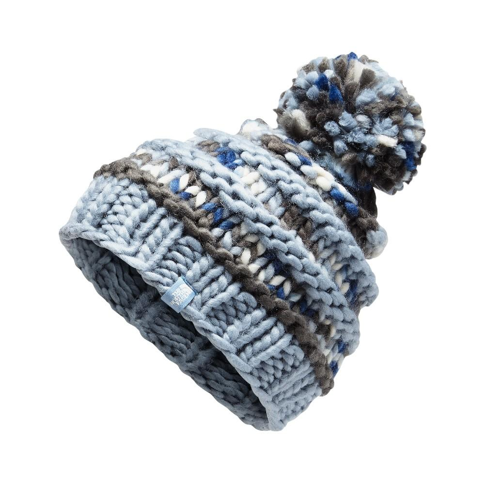 6e314030481 The North Face Nanny Knit Beanie Women s GRAPHITE GREY GULL BLUE MULTI