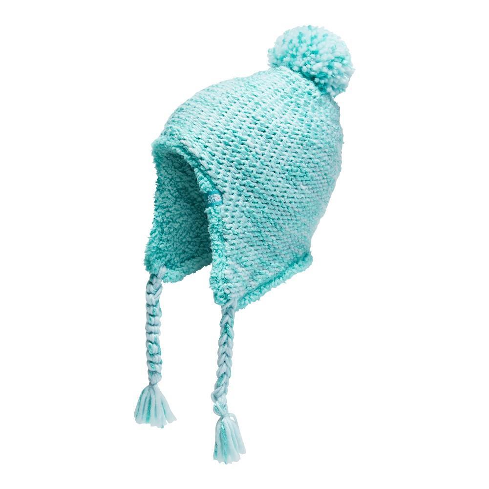 96710966c4a86 The North Face Fuzzy Earflap Beanie Girls  ORIGIN BLUE MINT BLUE