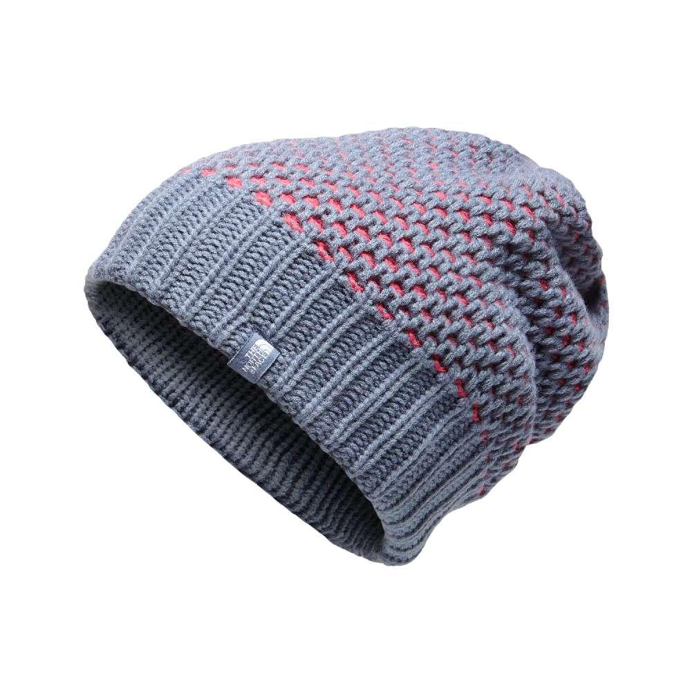 f3c8ffd920f The North Face Shinsky Beanie GRISAILLE GREY TEABERRY PINK BIRDSEYE