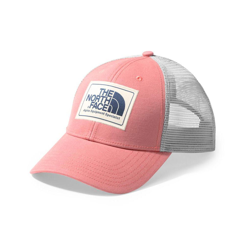 6f0bb0b7bc22e5 The North Face Mudder Trucker Hat SPICED CORAL/BLUE WING TEAL ...