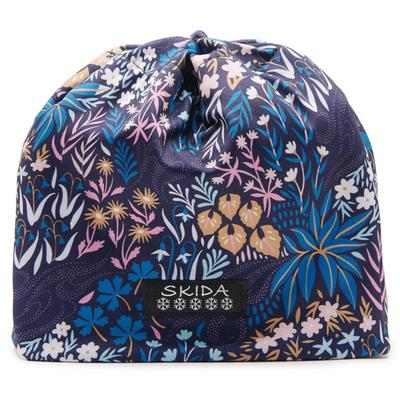 SKIDA BLUE FLORAL GIRLS ON THE RUN BEANIE HAT   NEW