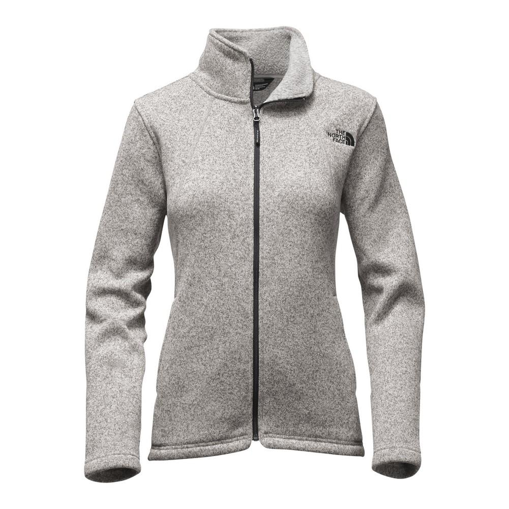 1b48a34eff42 The North Face Crescent Full Zip Fleece Women s Lunar Ice Grey Heather