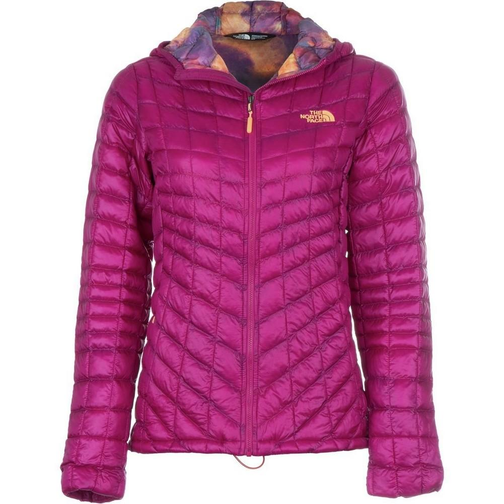 0e51fc92a885 The North Face Thermoball Hoodie Women s Dramatic Plum Geo Floral Print ...
