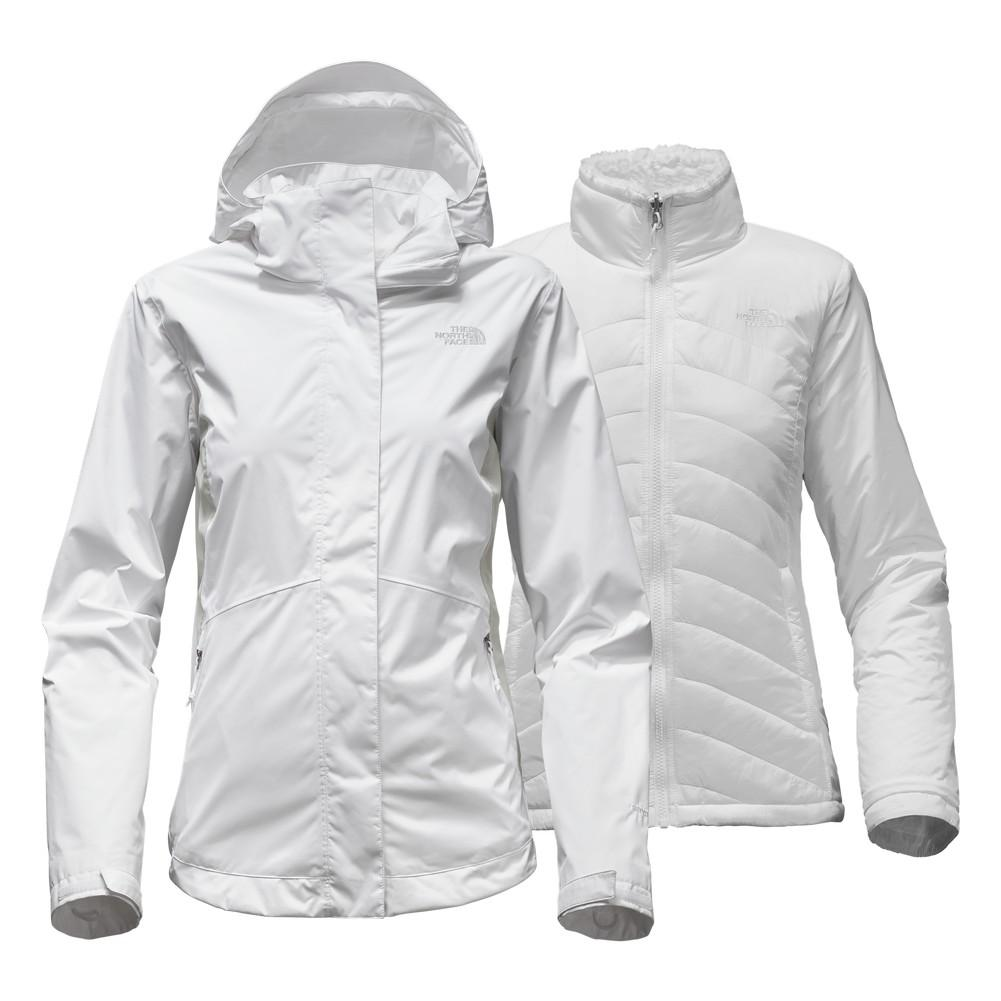 The North Face Mossbud Swirl Triclimate Jacket Women s TNF White Lunar Ice  Grey 47ce6aab7