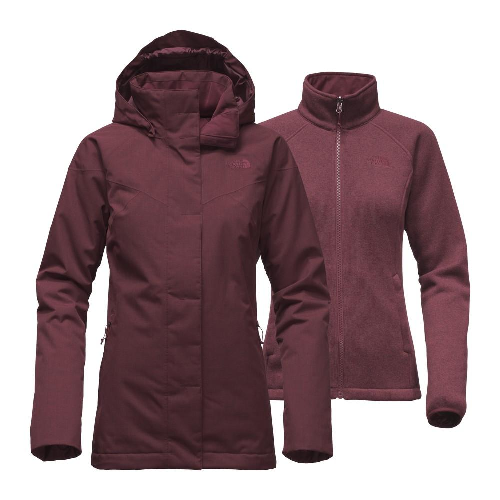 64dc48ea29 The North Face Kalispell Triclimate Jacket Women s Deep Garnet Red Heather  ...