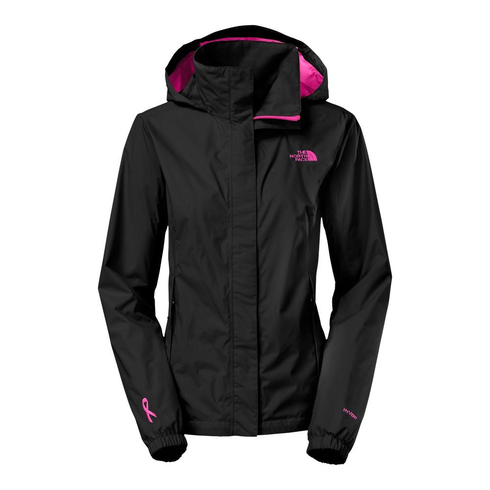 b78208a80fd6 The North Face Pink Ribbon Resolve Jacket Women s TNF Black Meadow Pink