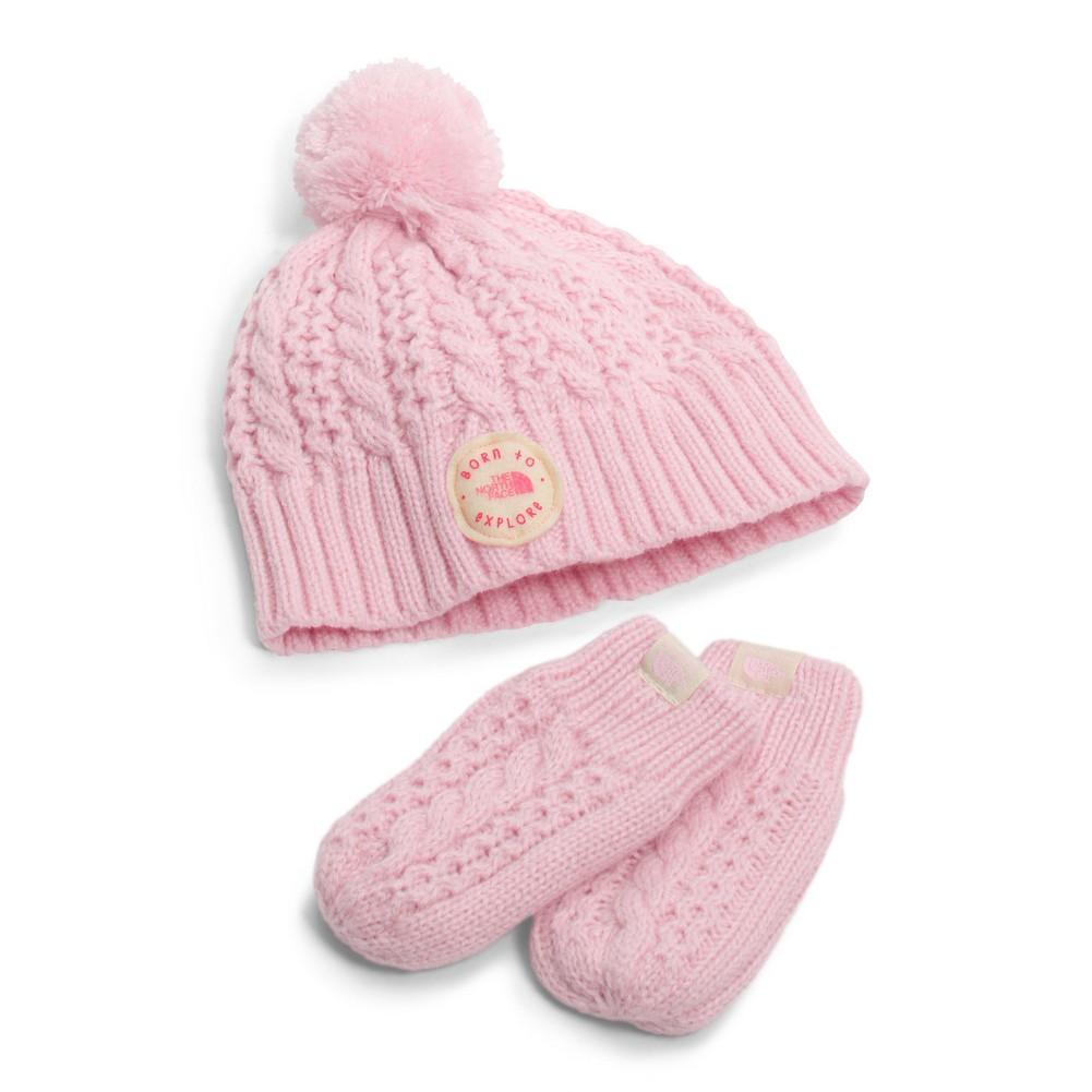 The North Face Baby Minna Collection Beanie Mittens - Infant Coy Pink 8999c527385