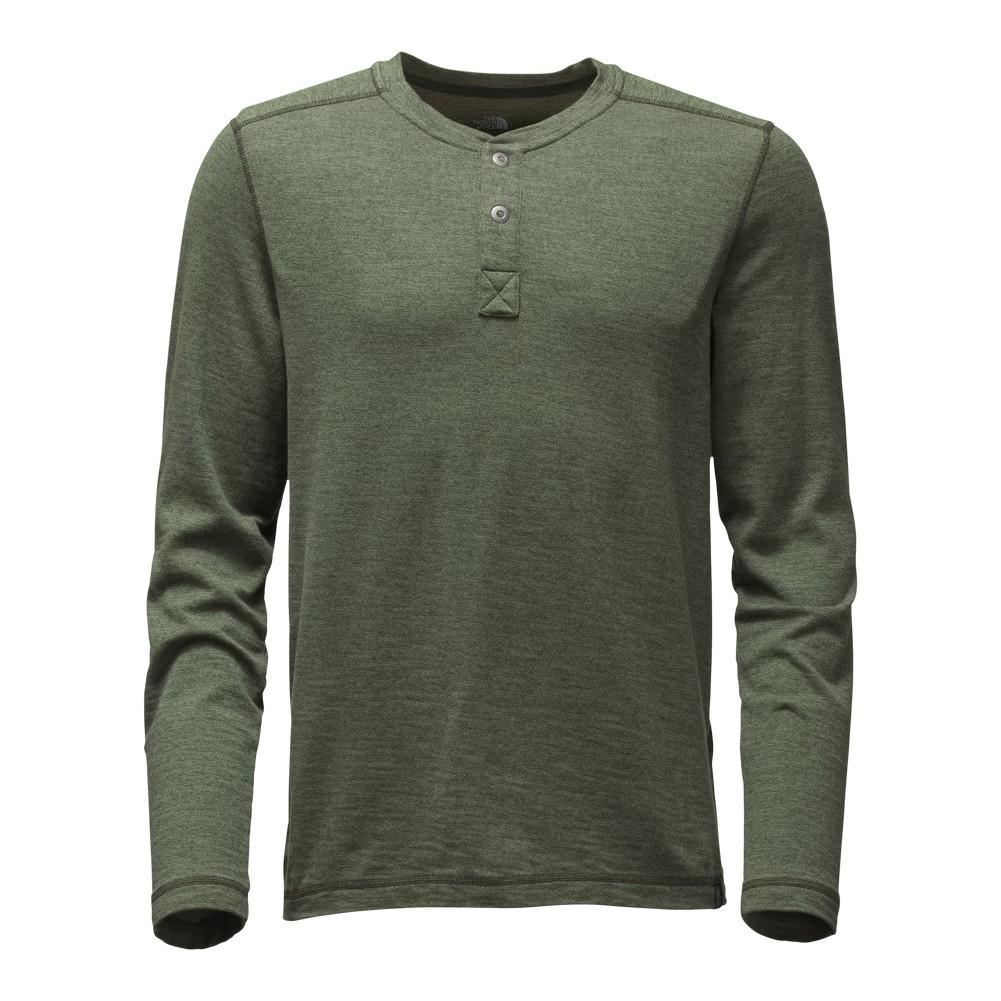 45fdde0cfb9d The North Face Long-Sleeve Copperwood Henley Shirt Men's Rosin Green Heather