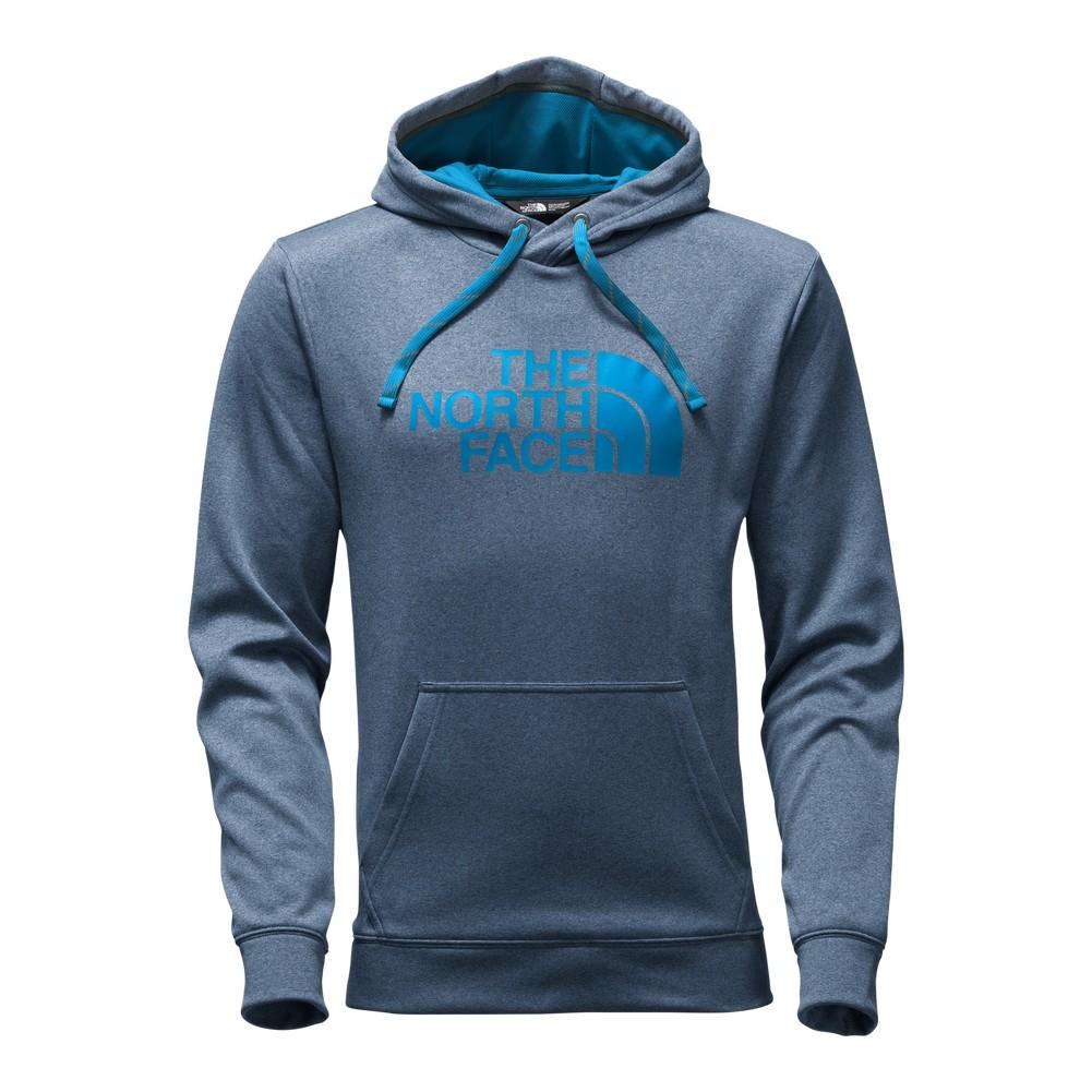 07f06f8fa1de8 The North Face Surgent Half Dome Pullover Hoodie Men's Shady Blue Light  Heather (STD)/Blue Aster