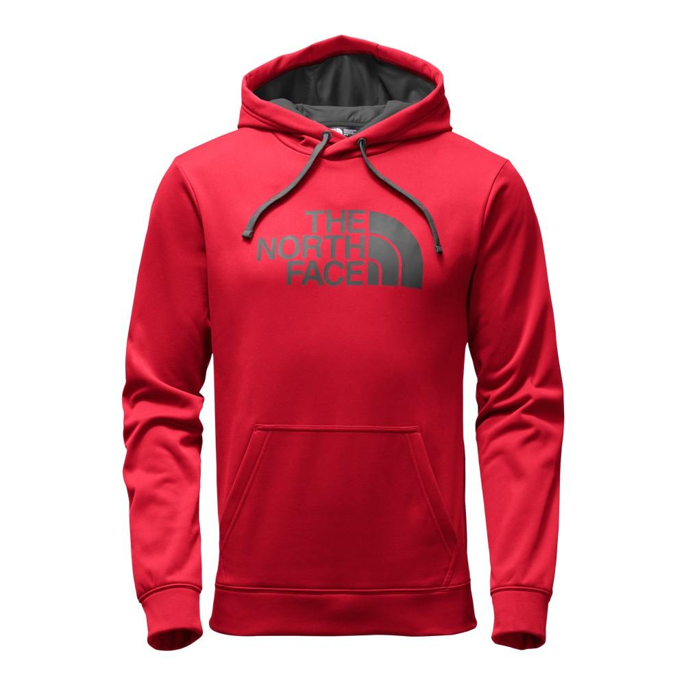 The North Face Surgent Half Dome Pullover Hoodie Men s TNF Red Asphalt Grey ce352fb27