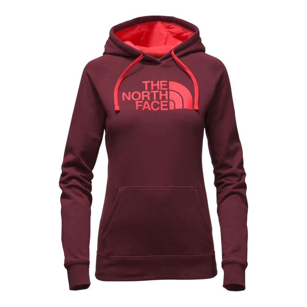 The North Face Half Dome Hoodie Women's Deep Garnet Red/Melon Red