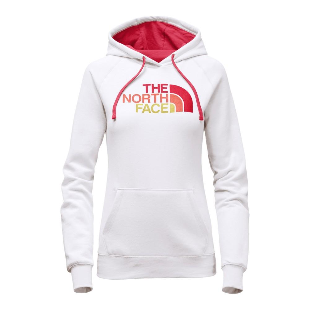 The North Face Half Dome Hoodie Women's TNF White/Cayenne Red Multi