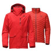 The North Face Thermoball Snow Triclimate Parka Men's Fiery Red