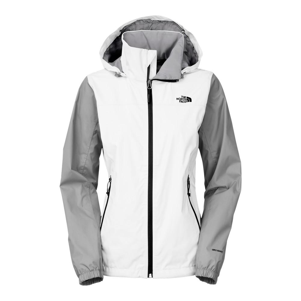 4a165f340eb The North Face Resolve Plus Jacket Women s TNF White Mid Grey